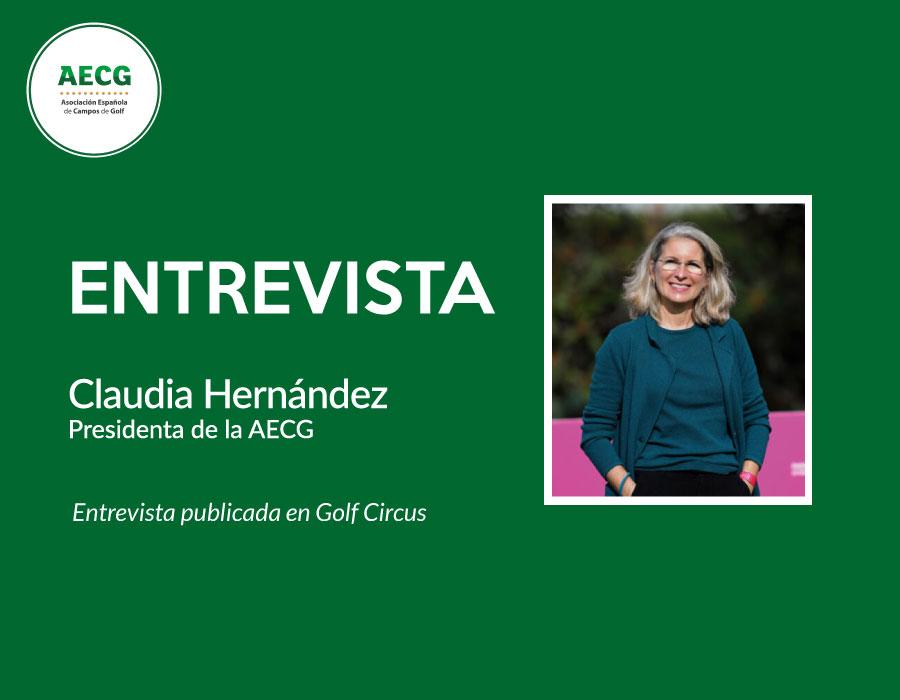 Entrevista a Claudia Hernández en Golf Circus