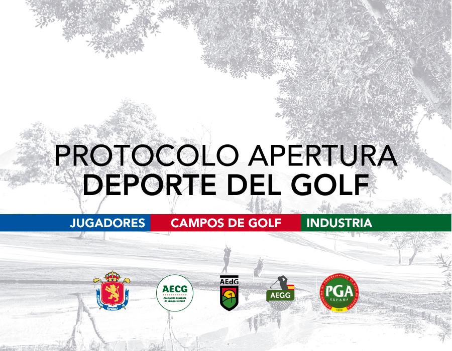 protocolo de apertura deporte del golf